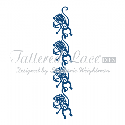 Tattered Lace Die Monkey Border - D823